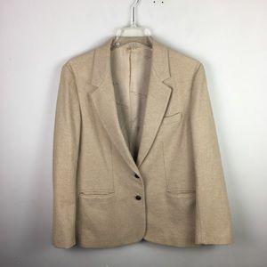 Vintage Oscar De la renta tan blazer jacket